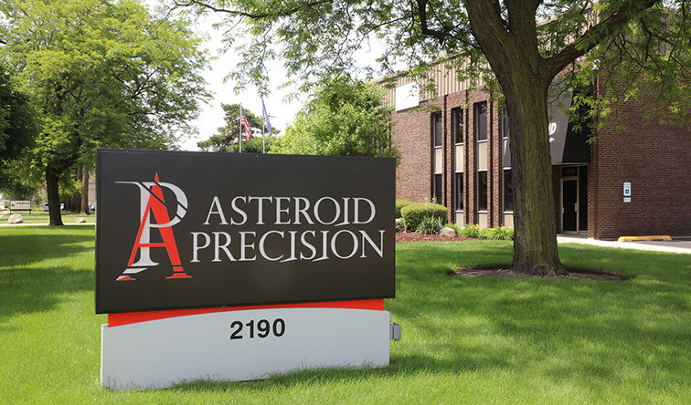 Asteroid Precision Building Sign